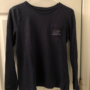 Woman's navy blue Vineyard Vines long sleeve